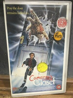 Rare Cameron's Closet. Embossed Medusa Big Box VHS ex Rental Video. Horror