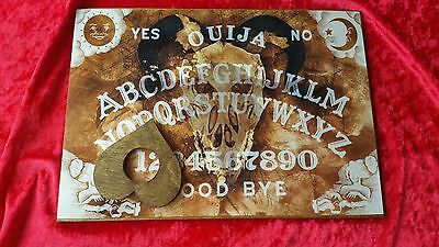 Classic Ouija Board Goat Skull & Planchette Instructions Ghost Game Halloween