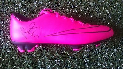 Authentic hand signed football boot Ashley Williams Everton Wales With COA