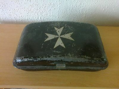 vintage st. johns ambulance first aid tin