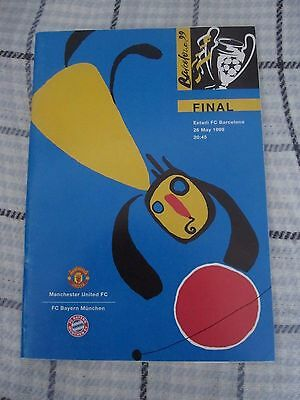Manchester United v Bayern Munich Champions League Final 1998-99 Programme & Lea