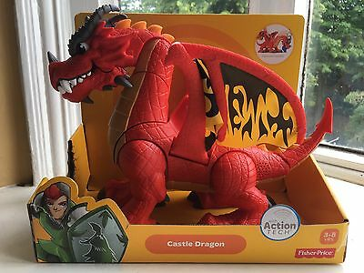 fisher price imaginext Large Castle Dragon *New*