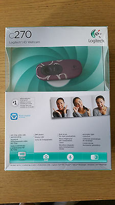 Logitech C270 HD Webcam Camera 1280 x 720 (860-000359) Limited Edition