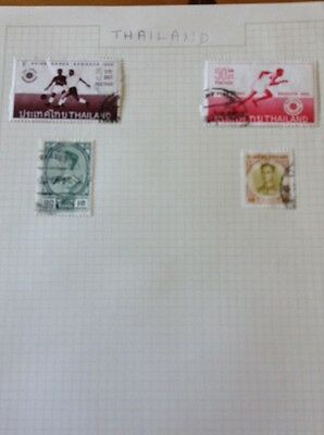 Old Thailand Stamps X 4
