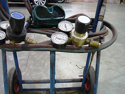 Oxy Acetylene Welding Kit inc Welding Torch, Gauges, Goggles & Frame