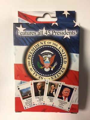 Presidents Of The United States Playing Cards Includes Newly Elected Trump