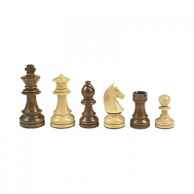 Chess figures - Staunton - brown - Kings height 95 mm - weighted