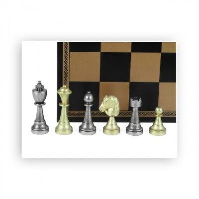 Chess Figures - Metal - Staunton - Kings Height 72mm