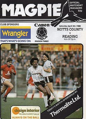 NOTTS CO  v  READING    85/6