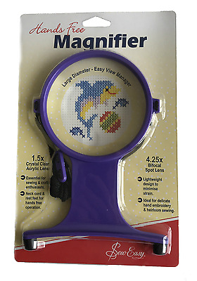 Sew Easy Large Diameter Hands Free Neck Magnifier