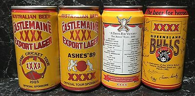Castlemaine. XXXX 375ml. Cricket Commemorative  Beer Cans x 4 different