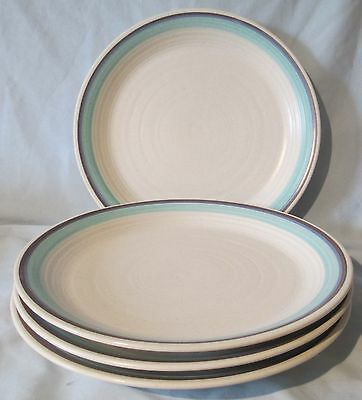 Franciscan Malibu Blue rim Dinner Plate set of 4