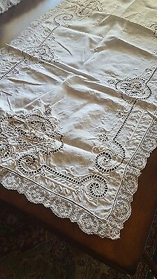 "Antique Vintage ♡ Lace Dresser Scarf Table Runner ♡ 36"" X 51"". Fabulous Piece"