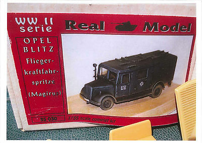 REAL MODEL #35030, OPEL BLITZ 3to LF 15 / FlKS15 Feuerwehr Fire, Bausatz Kit,RAR