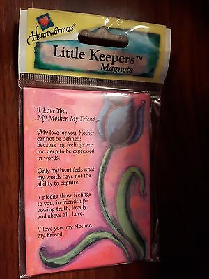 Keepsake Magnet with Poem I Love you Mother, My Friend. BNIP