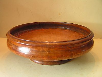 Vintage Large Wooden Turned Fruit Bowl