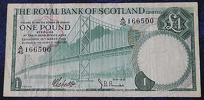 The Royal Bank of Scotland Limited £1 note First and Last Prefix Issues 1969/197
