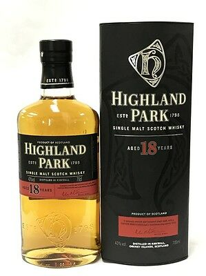 Highland Park 18 Years Old Single Malt Scotch Whisky 700Ml Boxed