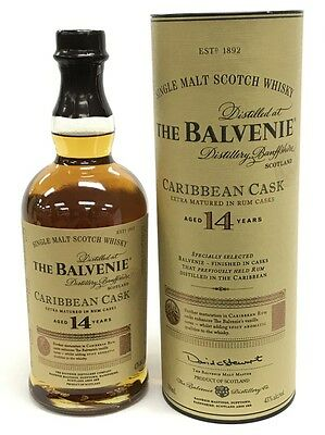 The Balvenie 14 Years Old Caribbean Cask Single Malt Scotch Whisky 700Ml Boxed