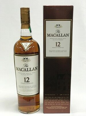 The Macallan 12 Years Old Highland Single Malt Scotch Whisky 750Ml Boxed