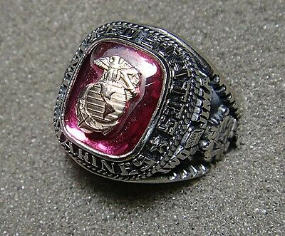 U.S. Marine Corps Men's Ring by Jostens with Stone, Size 11