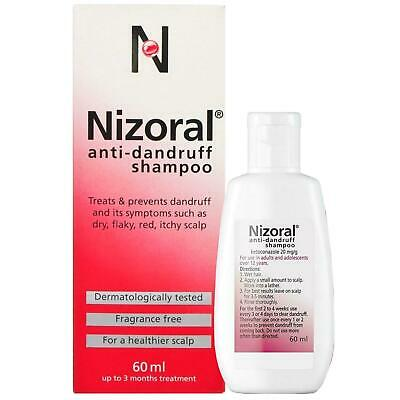 Nizoral Anti-Dandruff Shampoo 60ml 1 2 3 6 12 Packs