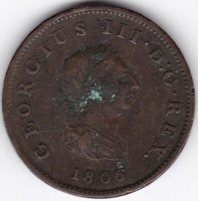 1806 George III Half-Penny***Collectors***
