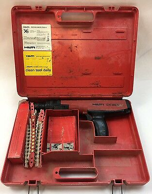 Hilti DX36M Powder Actuated Fastener Tool + Extras