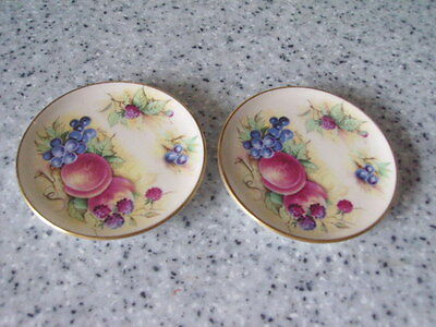 Orchard Glory Miniature Plate X 2 Crown Staffordshire England
