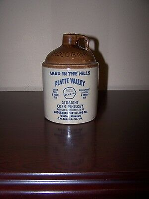 Vintage Jug Platte Valley Straight Corn Whiskey Aged in the Hills McCormick