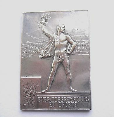 Expo Universelle & Olympics 1900 Silver Plated Winner's Plaque