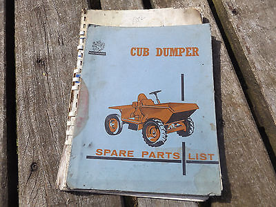 vintage old  cub dumper spare parts list