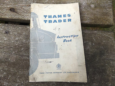 vintage old  thames trader instruction book