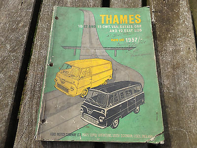 vintage old ford thames parts list