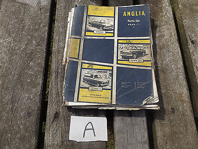vintage old ford anglia parts list saloon van estate car (a)