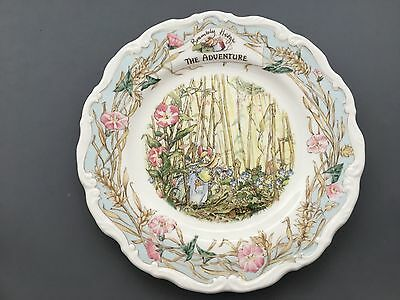 "Royal Doulton Brambly Hedge The Adventure Primrose's Adventure 8,1/8"" Plate"