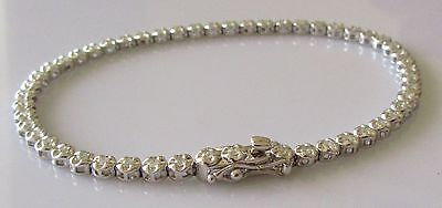 Secondhand 18ct White Gold Multi Diamond 1.15ct Tennis Bracelet (7 1/2inches).