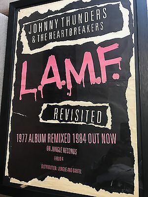 Rare Framed Johnny Thunders & The Heartbreakers 'lamf Revisited' Punk Poster