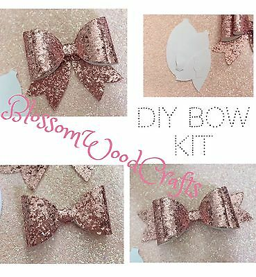 Bow Template Kit Make Three Hair Bow Styles Size Approx 5.5 To 6 Inches Craft