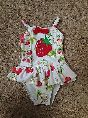 Next Baby Swimming Costume, Strawberry Pattern, 3-6 Months, Gorgeous!