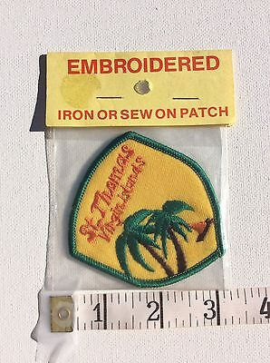 St. Thomas Virgin Islands Patch Embroidered Iron Or Sew On NIP vintage Tropical
