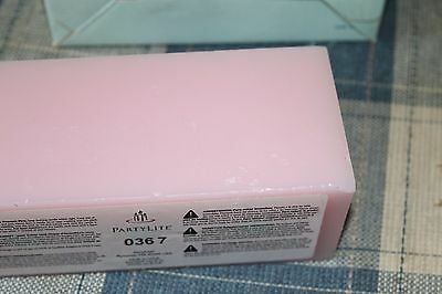 PARTYLITE Strawberry Rhubarb 3-Wick Brick Candle