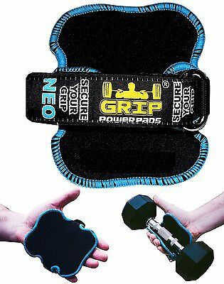 Weight Lifting Gym Grips Pads Workout Hand Training Wrap - Grip Power Pads