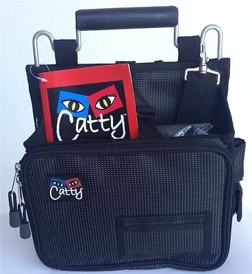 Catty Tool Bag Hairdressing Stylist Beauty Mobile Session Bag Black