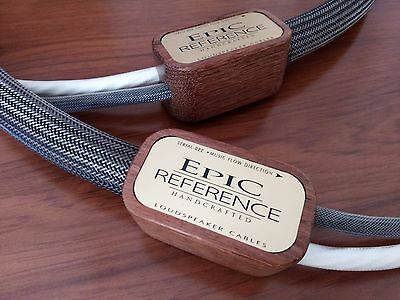 "Simply Epic Audio Reference Speaker Cables 1.75 M.""new"""