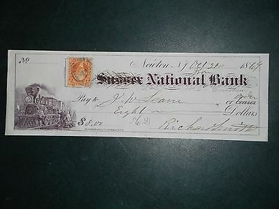 Sussex National Bank. Oct. 21, 1869. Newton N.Y. John W. Lane