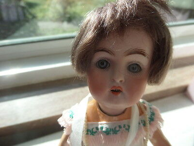 "RARE About 8"" Kestner #155 FLAPPER Bisque Doll"