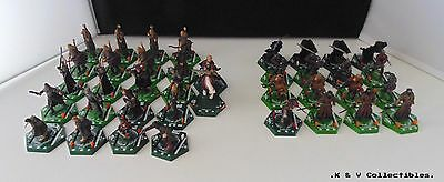 37 x Lord Of The Rings Combat Hex Figures GC & CHECKED