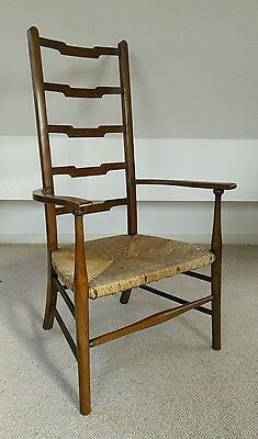 arts and crafts william birch liberty oak chair low seat