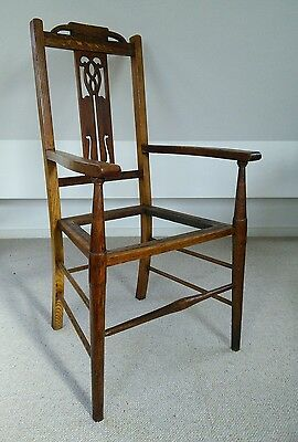 arts and crafts william birch liberty oak arm chair desk chair